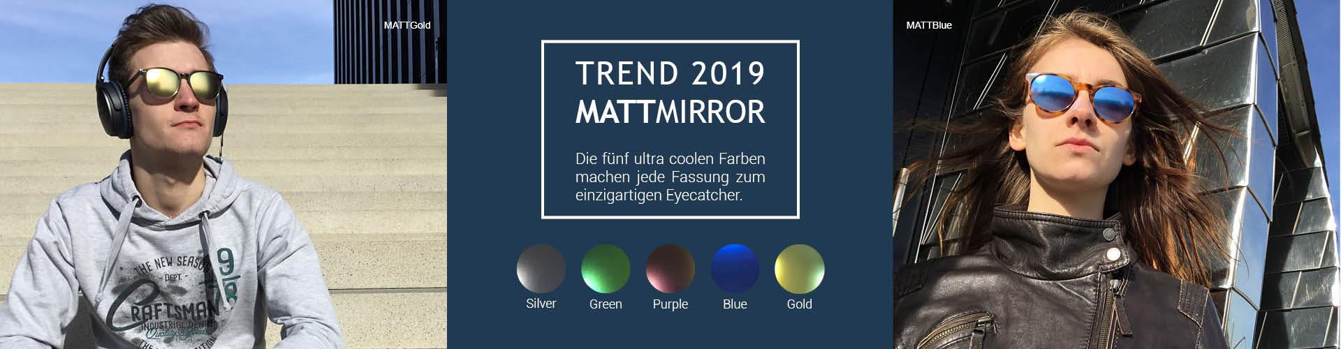 Optix Direct - Matt Mirror in den Farben Gold Silber Grün, Blau Purple sind ein einzigartiger Eyecatcher